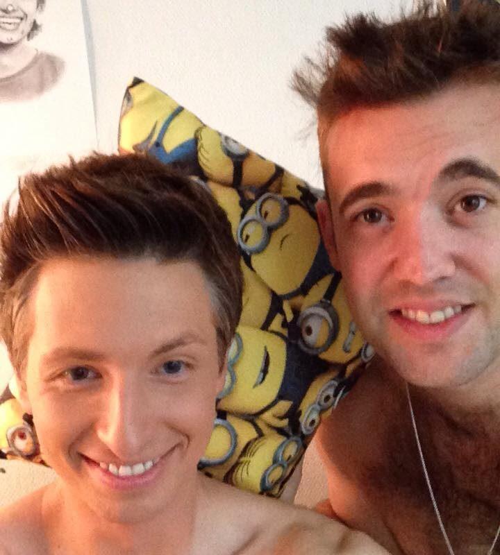 In der Garderobe mit Michael Quinn !!! :)