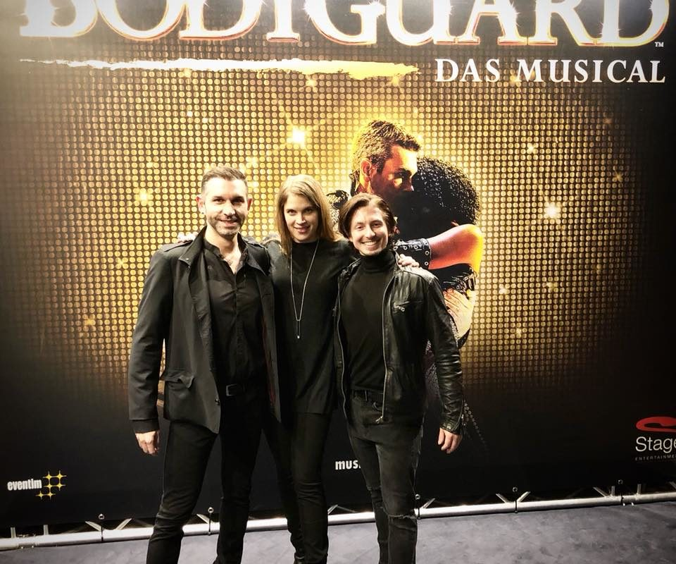 """Wir hatten letzte Nacht eine großartige Zeit in """"Bodyguard Das Musical"""" und mit diesen beiden hat Jonna ..."""